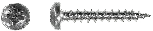 Саморез универсальный (PN) с полукруглой головкой