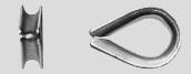 Коуш для стальных канатов DIN6899